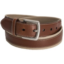 American Endurance Woven Belt (For Men and Women) in Brown/Cream - Closeouts