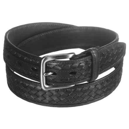 American Endurance Woven Inset Leather Belt (For Men) in Black - Closeouts