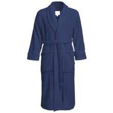 American Essentials Luxury Spa Robe (For Men) in Navy - Closeouts