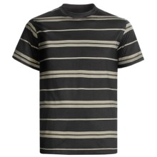 American Essentials T-Shirt - Silk-Cotton, Short Sleeve (For Men) in Black/Chocolate - Closeouts