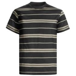 American Essentials T-Shirt - Silk-Cotton, Short Sleeve (For Men) in Black/Olive