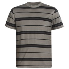American Essentials T-Shirt - Silk-Cotton, Short Sleeve (For Men) in Black/Olive - Closeouts
