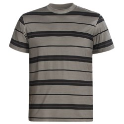 American Essentials T-Shirt - Silk-Cotton, Short Sleeve (For Men) in Black/Chocolate