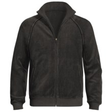 American Essentials Velour Zip Jacket (For Men) in Black - Closeouts