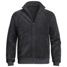 American Essentials Velour Zip Jacket (For Men) in Charcoal Heather - Closeouts