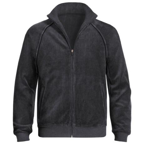 American Essentials Velour Zip Jacket (For Men) in Black