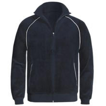 American Essentials Velour Zip Jacket (For Men) in Navy - Closeouts