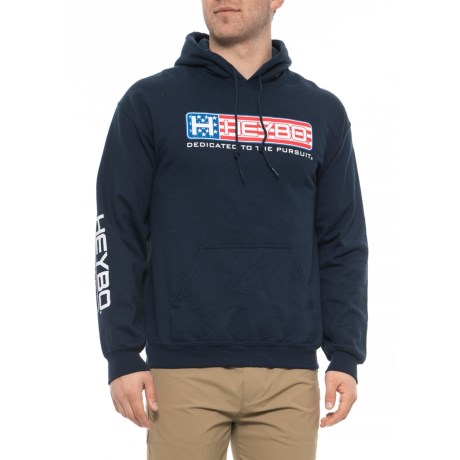 Image of American Flag Bar Logo High-Performance Hoodie (For Men)