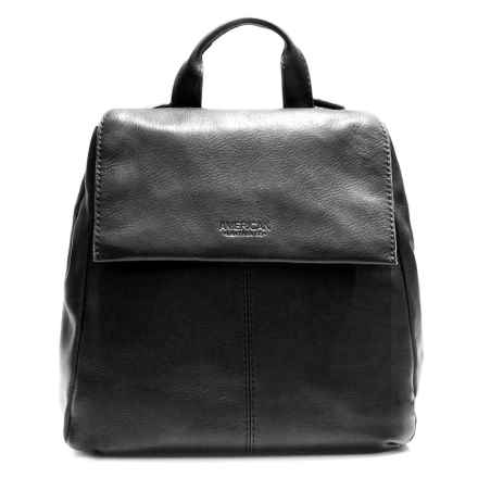 American Leather Co. Alexandria Flap Backpack - Leather (For Women) in Black - Closeouts