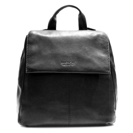 American Leather Co. Alexandria Flap Backpack - Leather (For Women) in Black