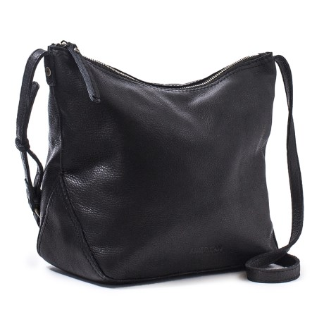 American Leather Co. Dayton Large Crossbody Bag - Leather (For Women) in Black