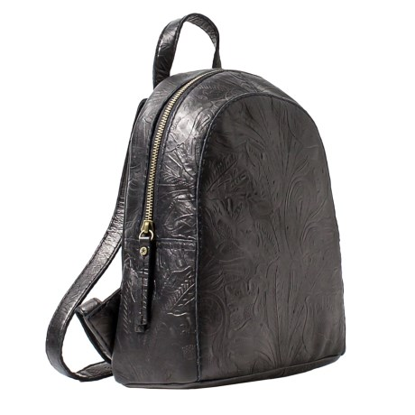 American Leather Co. Knoxville Backpack - Leather (For Women) in Black Tooled