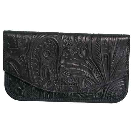 American Leather Co. Madison Wallet - Leather (For Women) in Black - Closeouts
