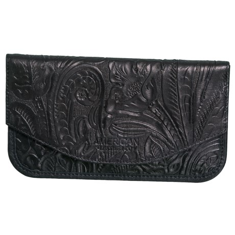 American Leather Co. Madison Wallet - Leather (For Women) in Black