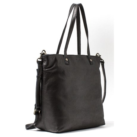 American Leather Co. Saratoga Convertible Shopper's Tote Bag - American Glove Leather (For Women) in Black