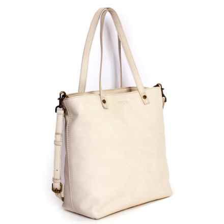 American Leather Co. Saratoga Convertible Shopper's Tote Bag - American Glove Leather (For Women) in Stone - Closeouts