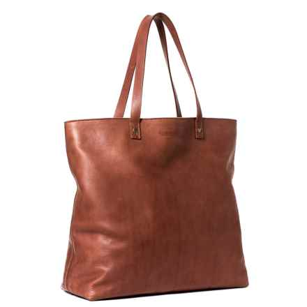 American Leather Co. Saratoga Tote Bag (For Women) in Brandy - Closeouts