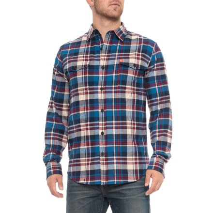 d19bd98cc1e2 American Outdoorsman Montana Everyday Flannel Shirt - Long Sleeve (For Men)  in Blue/