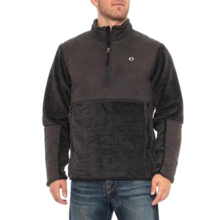 871e390a19d American Outdoorsman Montauk Surf Casting Fleece Jacket - Zip Neck (For  Men) in Raven