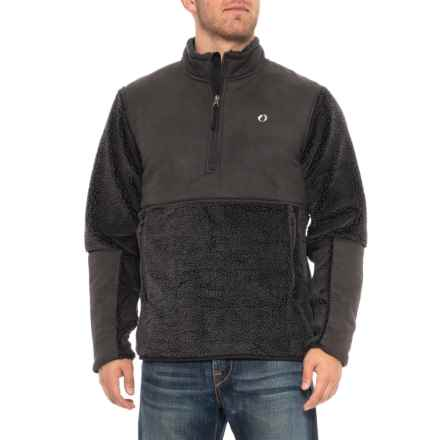 d8330c4b3e American Outdoorsman Montauk Surf Casting Fleece Jacket - Zip Neck (For  Men) in Raven