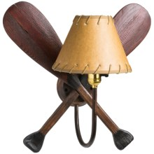 American Resort Furnishings Canoe Paddle Sconce in See Photo - Closeouts