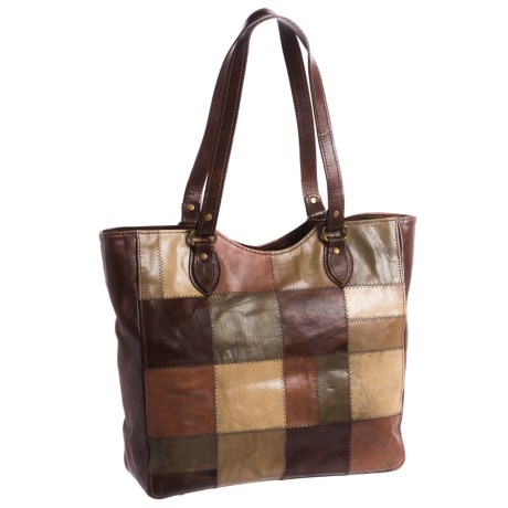 American West Groovy Soul Large Tote Bag - Leather (For Women) in Brown Multi