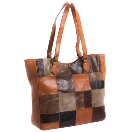 American West Groovy Soul Large Tote Bag - Leather (For Women) in Orange/Brown Multi