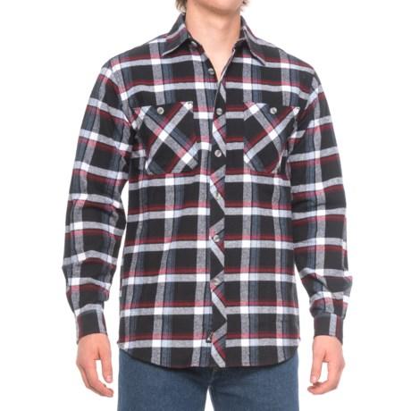 AmericaWare Brawny Flannel Shirt - Long Sleeve (For Men) in Black