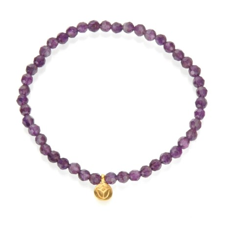Image of Amethyst Tranquility Lotus Stretch Bracelet