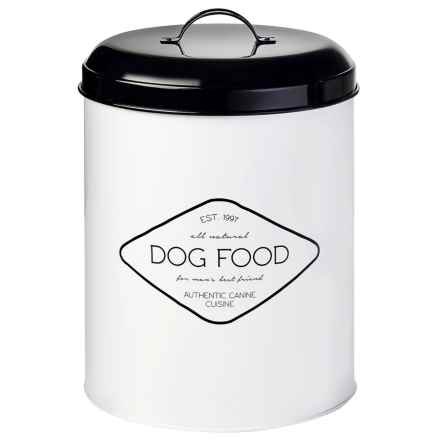 Amici Buster Dog Food Storage Bin - 17 lb. in White/Black - Closeouts