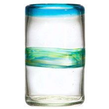 Amici Del Mar Collection Highball Glass - 16 fl.oz., Recycled Materials in Blue/Green - Closeouts