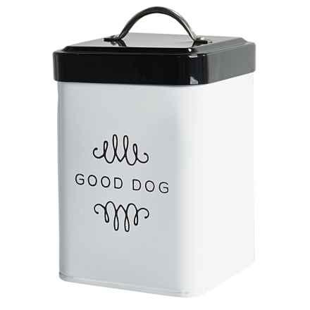 Amici Good Dog Metal Dog Treat Canister - 36 oz. in Black/White - Closeouts