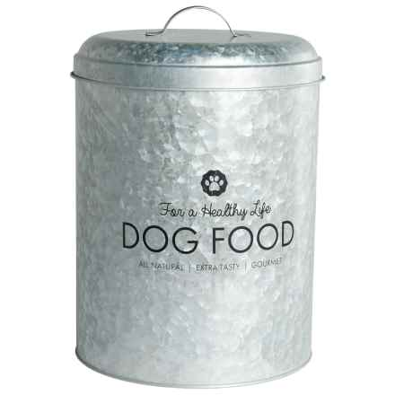 Amici Healthy Life Buster Metal Dog Food Bin - 17 lb. in Silver - Closeouts