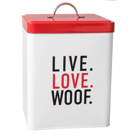 Amici Home Live Love Woof Treats Canister - 208 oz. in Multi