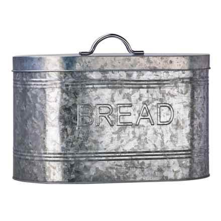 Amici Home Rustic Kitchen Galvanized Steel Bread Box in Bread - Closeouts