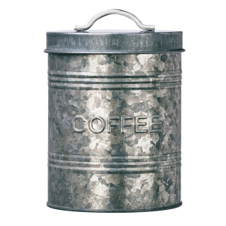 Amici Home Rustic Kitchen Galvanized Steel Canister in Coffee