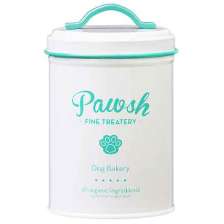 Amici Pawsh Metal Dog Treat Canister - 44 oz. in Mint/White - Closeouts
