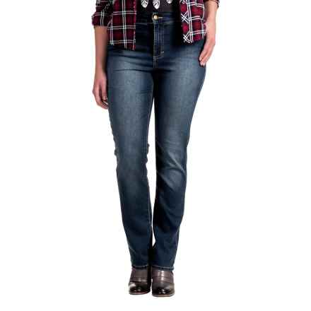 Amy Stretch Jeans - Low Rise, Slim Fit (For Women) in Evening Shadow - 2nds