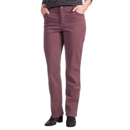 Amy Stretch Jeans - Low Rise, Slim Fit (For Women) in Persian Plum - 2nds