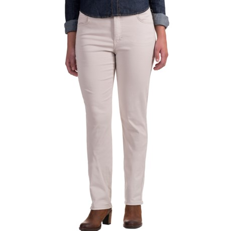 Amy Stretch Jeans - Low Rise, Slim Fit (For Women) in Stone