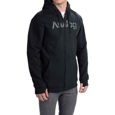 Analog Mobilize Hoodie - Full Zip (For Men) in Black - Closeouts