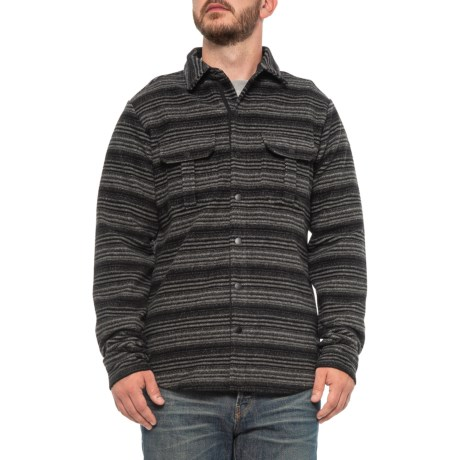 Anchor Line Flannel Shirt Jacket - Merino Wool Blend (For Men) - MID GREY/BLACK (M )