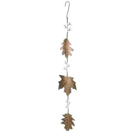 Ancient Graffiti Branches Mobile with Spinning Leaves in Copper - Closeouts