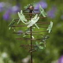 "Ancient Graffiti Copper Verdigris Spiral Stake - 8"" in Dragonfly - Closeouts"