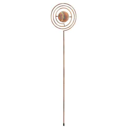 "Ancient Graffiti Disc Garden Stake - 30"" in Copper - Closeouts"