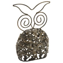 Ancient Graffiti Embossed Animal Statue - Metal in Owl - Closeouts