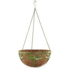 Ancient Graffiti Hanging Metal Planter in Verdigris Dragonfly - Closeouts