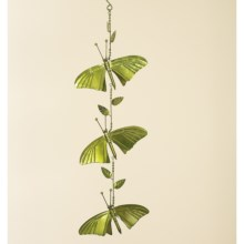 Ancient Graffiti Hanging Single-Strand Ornament in Green Butterfly - Closeouts