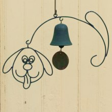 Ancient Graffiti Hanging Wind Chime - Single Bell in Dog - Closeouts