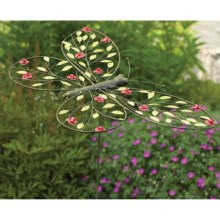 Ancient Graffiti Metal Rose Garden Stake in Butterfly - Closeouts